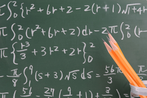 数式が書いてある黒板
